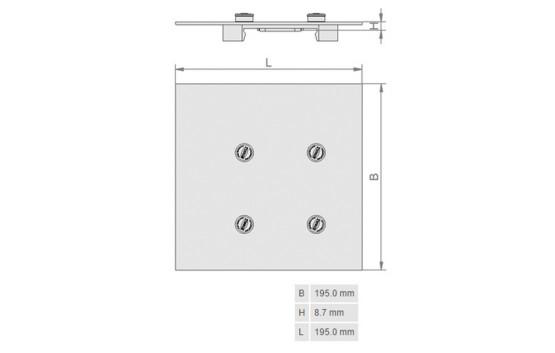 Base para Fixacao de Blocos a Vacuo 10.01.14.00123 M2.1